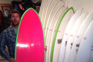 Our range of hire surfboards available from Slide and Glide, Newquay