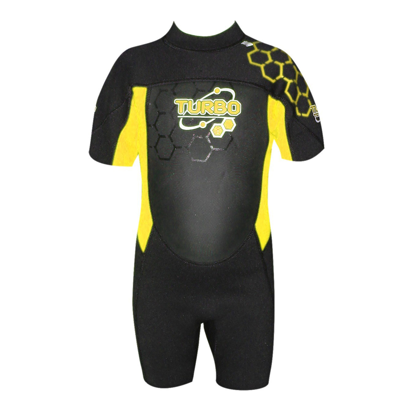 Turbo Kids Shortie Wetsuit Yellow